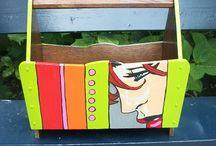 New trash / Kringloopspullen , die het waard zijn om herplaatst te worden na een grondige reiniging en kleurrijke beschildering!