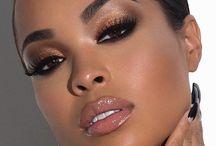 makeup femme noire - teint doré