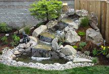 cascada y fuentes jardin