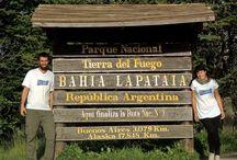 Nosotros / Vir y Ale, una pareja que rompió con la rutina y salió a viajar por las rutas del mundo uniendo Bs As - Ushuaia - Alaska.  www.porlasrutasdelmundo.com