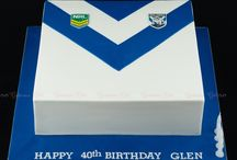 Bulldogs/roosters cake