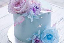 Cake. Flowers.