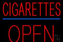 Cigarettes Open Neon Signs