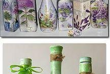 Malované láhve