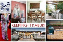 KKDL TRENDWATCH 2016: KEEPING IT KABUKI / 2016 is the year of creating balance and togetherness, yin and yang. The simplest way to do this for your home is by following the Keeping it Kabuki trend. This style offers a timeless quality that can be attributed to steady lines and organic materials like cedar and bamboo. Looking into the next year we anticipate a shift in outdoor patio styling, especially for entertaining.  / by Kerrie Kelly Design Lab