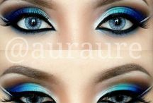 Arabic eye shadow make up