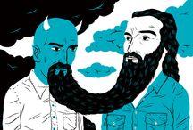 mustache / beard