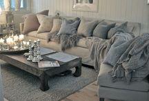 Living Room Interior Design Inspiration / Inspiration ideas for a classic and scant living room