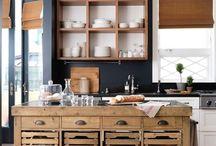 Ilha de cozinha rústica