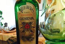 Vintage bouteilles anciennes / Melchers finest Canadien Geneva