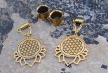 Sacred Geometry Gauged Earrings