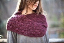 Burgundy knit & crochet