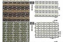 многоцветная вязание