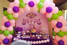 Sofia the First birthday party / What a cute sofia the first party! Make your home become precious to celebrate the party. Get the special promo from @sweetcorner_andromeda for sweetcorner and decoration order. Feel free to ask: 085608600999.