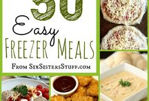 "Recipes: Freezer Cooking / Stock your freezer with your family's favorites and save time and money! Make extra pancakes, an extra meatloaf, muffins, slow cooker ""dump"" recipes and more with this collection of freezer cooking pins."