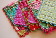 Mug Rugs, Place mats, Coasters / Patchwork and quilted small mats