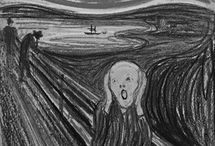 Art Ed Project: The Scream by Edvard Munch / Links to references for teaching the Scream by Edvard Munch / by Deyana