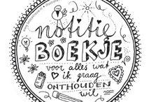 tekenideeen/kaarten maken/quotes/handlettering/journaling
