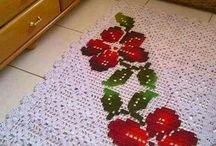 alfombra con flor