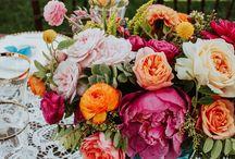 Wedding Reception Flowers-table arrangements