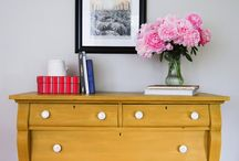 RED-YELLOW-ORANGE Ideas for Painted Furniture / Be Bold!  Using red, orange and yellow on painted furniture.