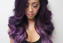 Violet Hues / Gorgoues violet, lilac, light purple and amethyst hair colors.