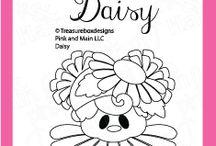 Daisy / Clear stamp from pinkandmain.com