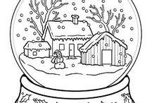 Omalovánky-Zima