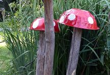 The Fairy Lolly--A natural outdoor playscape / Our Fairy Playland is quite popular--and it's built from natural and recycled materials!  Create your own fun natural/repurposed playground with these fun ideas!