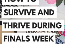 Survive Finals / How to finish finals on a high note! Eat right, sleep and exercise as well as studying!