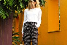 patterned pants/trousers