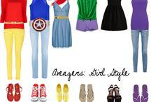 Avenger inspired outfits
