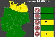 Aktuelle Wettergefahren / Aktuelle Unwetter und Wettergefahren für Deutschland