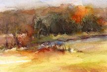Akvarellimaisema
