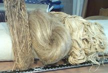 Yarns, flax, wool, cotton