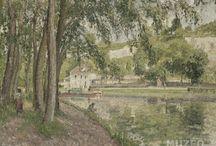 Portfolio d'artiste   Pissarro / Camille Pissarro naît à Saint-Thomas le 10 juillet 1830.  Il a marqué le mouvement impressionniste de son art sensible et généreux. Peintre d'extérieur, il renonça à l'argent de sa famille pour épouser la mère de ses enfants, de condition sociale moins élevée que la sienne. Ami de Cézanne, Gauguin, Guillaumin et d'autres, Camille Pissarro fut un impressionniste de premier plan, sachant saisir et comprendre l'alliance parfaite de la simplicité et de la complexité présente dans la nature.