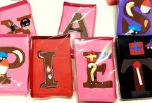 knutsel / Sinterklaas, chocoladeletters