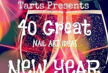 Crumpet Nail Tarts Presents - New Year / Crumpet Nail Tarts Presents 40 Great Nail Art Ideas  #40gnai