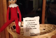 Elf on a Shelf 2013 / Stuff I've done.............some borrowed ideas, some of my own! / by Joanne LeBlanc