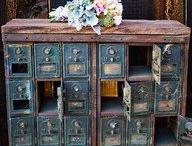 Décor méli-mélo antique rustique vantange d'aujourd'hui / by Mia