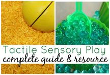 Bac sensoriel - sensory bins