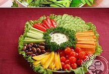 salada e frutas