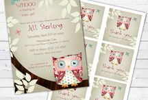 owl baby shower / Baby shower with a sweet little owl theme