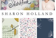 Sketchbook Fabrics / Sketchbook is a fabric collection designed by Sharon Holland for Art Gallery Fabrics / by Sharon Holland Designs