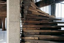 Materials: Wood / Interior design and home decor inspiration for those looking to use wood in unusual ways in their loft apartment or warehouse home.
