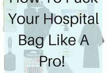Hospital bag for mom and baby