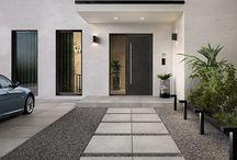Front yard and front door