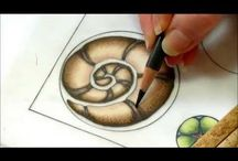 Drawing coloured pencils / You tube paper lace