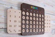 calendar wood