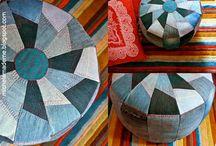 Crafts/sewing: pufy, dywany, poduszki